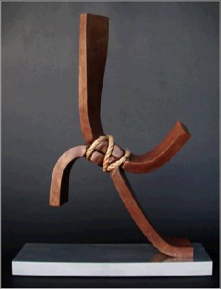 Contradiction 8 rotblatt bronze sculpture